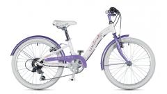 """Велосипед AUTHOR (2019) Melody 20 """", рама 10"""", білий // фіолетовий"""