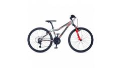 """Велосипед AUTHOR (2019) A-Matrix 24"""", рама 12,5""""колір сріблястий червоний"""