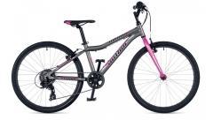 """Велосипед AUTHOR (2019) Ultima 24"""", рама 12,5"""", колір - сіро-рожевий"""