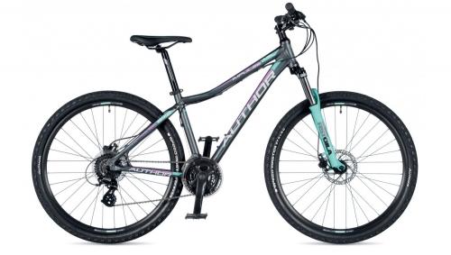"""Велосипед жіночий AUTHOR (2019) Impulse ASL 27.5"""", рама 18"""", цвет-графитовый (фиолетовый)"""
