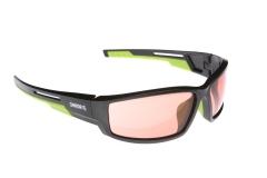 Сонцезахисні окуляри Onride Point матові чорні РС лінзи помаранчові категорії 2