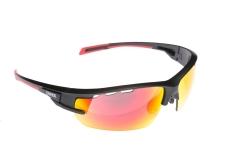 Сонцезахисні окуляри Onride Lead матові чорні РС лінзи димчаті+Revo червоні категорії 3; змінні лінзи
