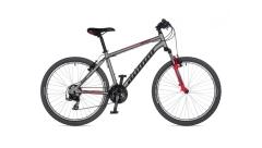 """Велосипед AUTHOR (2021) Outset 26"""", рама 17""""-19"""", колір-сріблястий // червоний"""