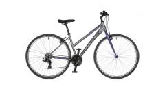 """Велосипед AUTHOR (2021) Thema 28"""", рама 17"""", колір-сріблястий // фіолетовий"""