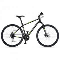 "Велосипед AUTHOR (2018) Vertigo 28"", колір-чорний (зелений) // чорний, рама 20"""