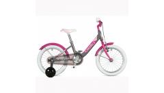"""Велосипед AUTHOR Bello II 16"""", (2020) рама 9"""", колір-сріблястий // рожевий"""