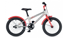 """Велосипед AUTHOR Stylo 16"""" II,(2019) рама 9"""", колір-сріблястий-червоний"""