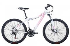 """Велосипед жіночий Trinx N106, 15.5"""" 2021 біло-рожевий"""